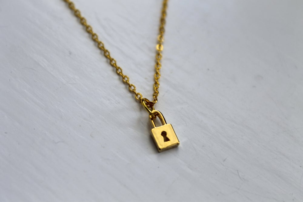 Image of Tiny Lock Necklace (Originally $22)