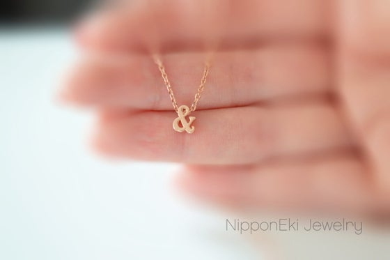 Image of Pink Gold Ampersand Necklace
