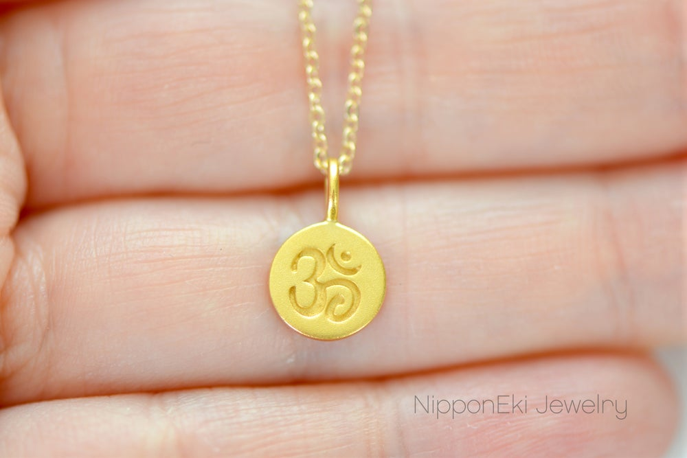 Image of Gold Dipped Ohm Necklace