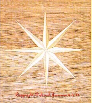Image of Item No. 73. **HAND CUT**  Basic Nautical Star.