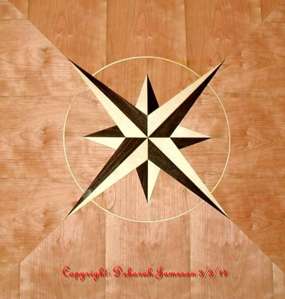 Image of Item No. 75. Maritime Star With Radiating Veneers.