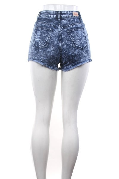 Image of High Waist Distressed Shorts