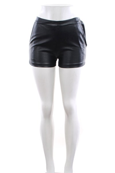 Image of Faux Leather Shorts