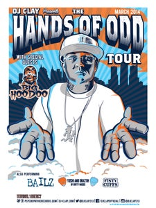 Image of DJ Clay Hands of Odd Tour Poster