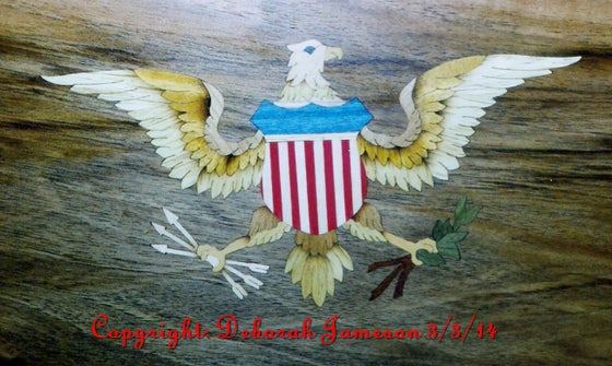 Image of Item No. 158a. Eagle into Background.