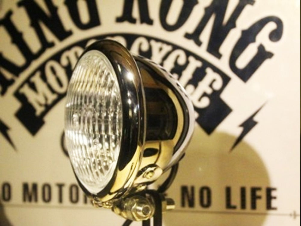 "Image of Cafe Racer Bates Headlight 4.5"" Chrome / Black"