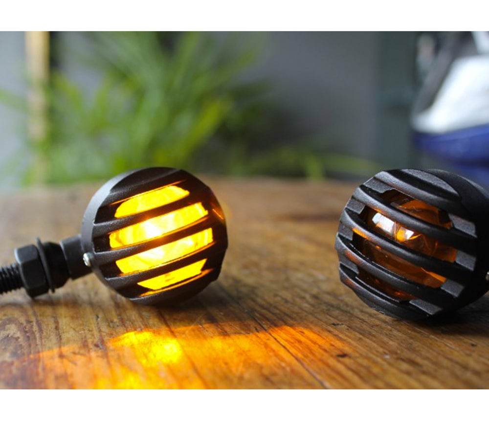 Image of Cafe Racer Mini Bullet Indicators Amber Lens - C