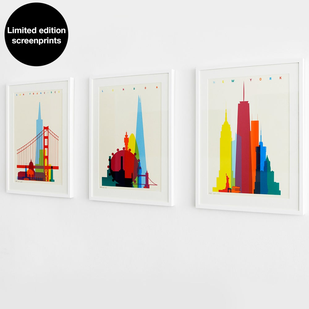 Image of Shapes of London/NYC/SF. A2 limited edition screenprint.  ***Only a few left***