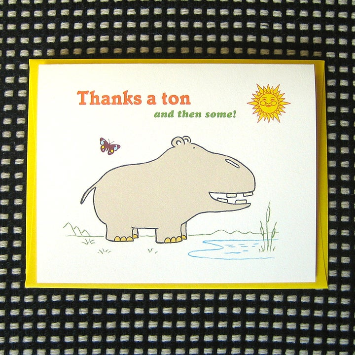 Image of HIPPO THANK YOU CARD