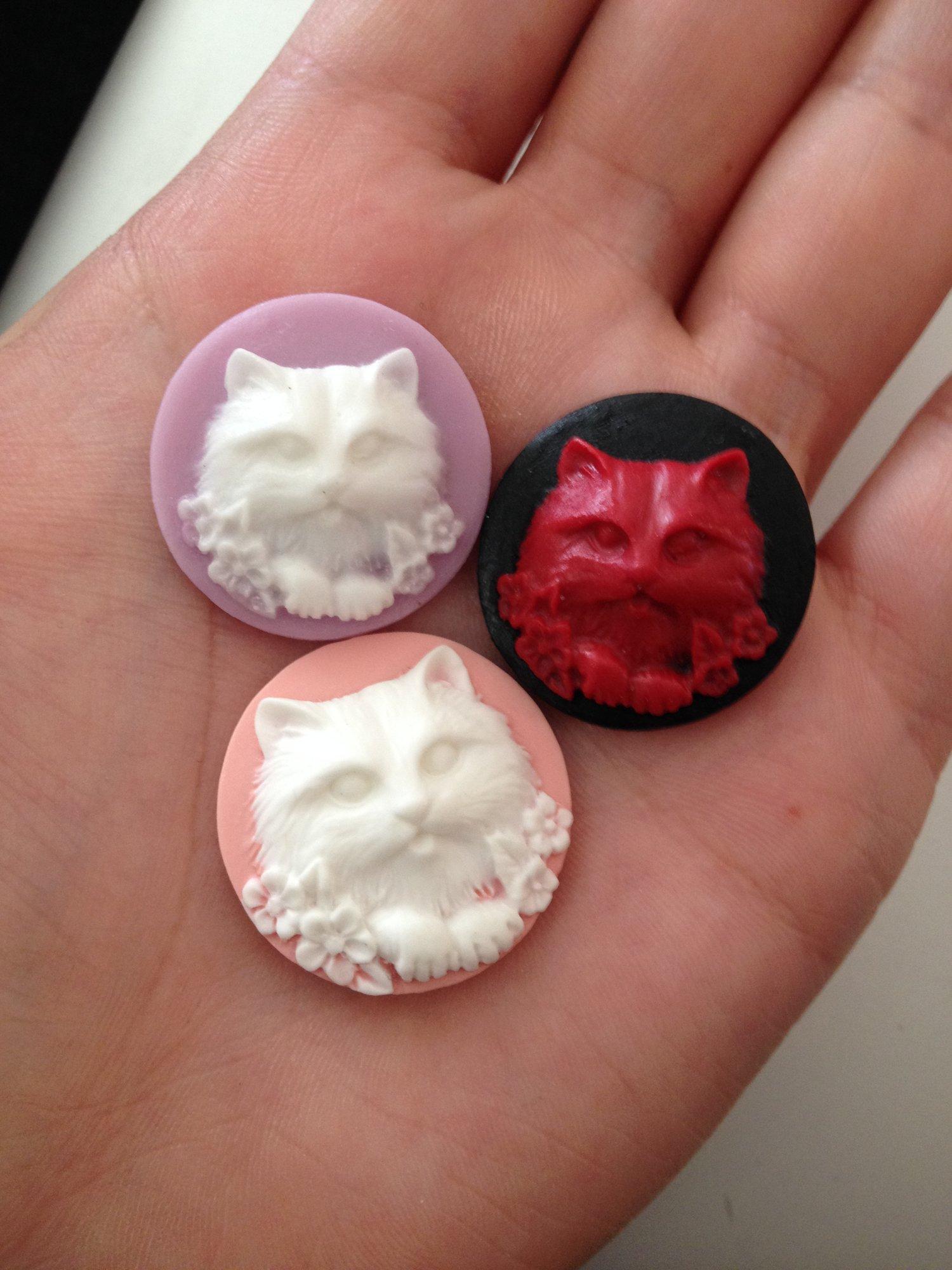 "Image of Kitty Cameo Plugs (sizes 5/8-1"")"
