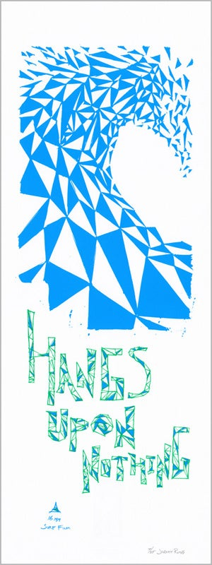 "Image of Hangs Upon Nothing - Triangulation - 9"" x 24"" Poster"