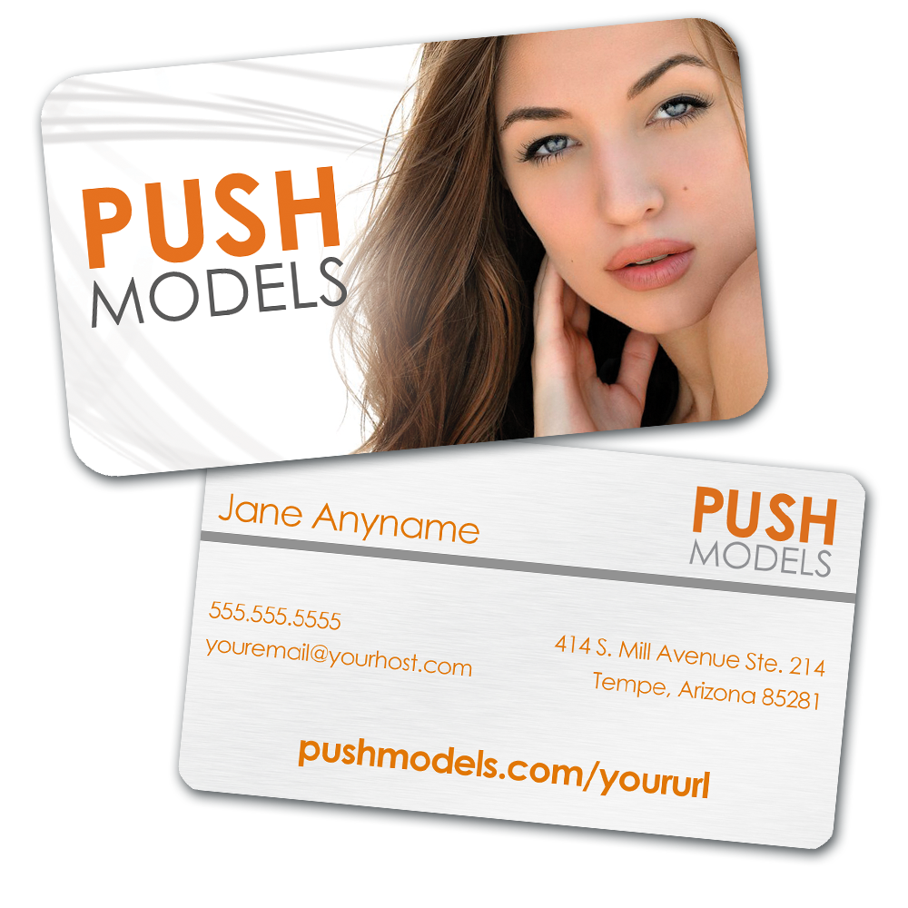 Personalized PUSH Models Business Card with Custom Headshot / PUSH ...