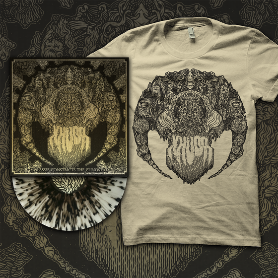 "Image of BUNDLE (LIMITED STOCK) ""Molasses Constricts the Clinostat"" 12"" + Limited Edition T Shirt."
