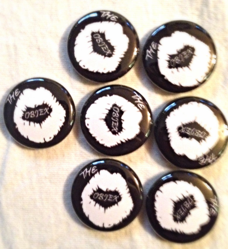"Image of The Objex 1"" Lips Button and Patches"