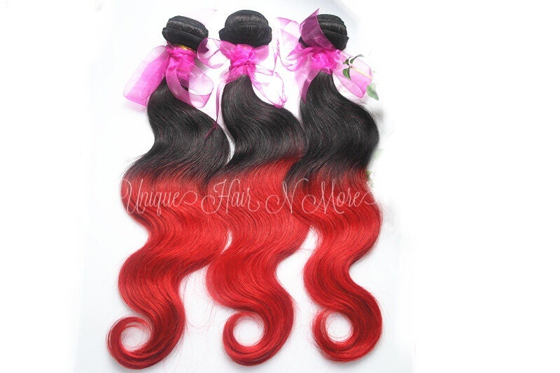 Image of Ombre-2 Color 1B/Fire Red-8A