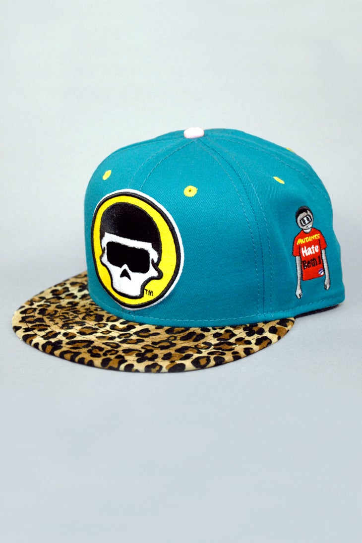 Image of The FM Blue Cheetah Snapback Hat