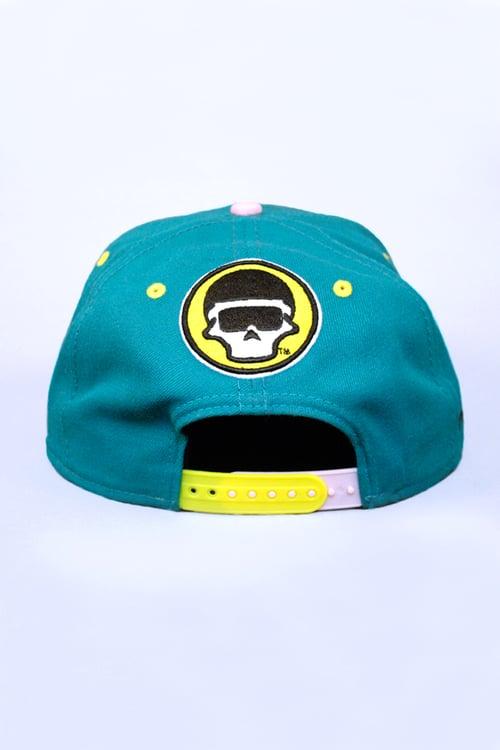 Image of The FM Blue Cheetah Snapback Hat