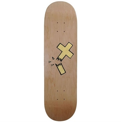Image of Beejoir - Broken Gold Cross Skate deck