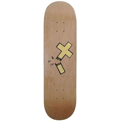 Image of Beejoir - Broken Gold Cross Skate deck