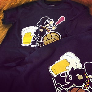 Image of Andy Capp, Football and Beer T-Shirt