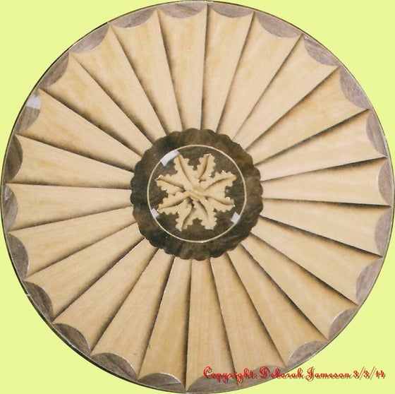Image of Item No. 396/C. Beautiful Fan With Floral Centre.