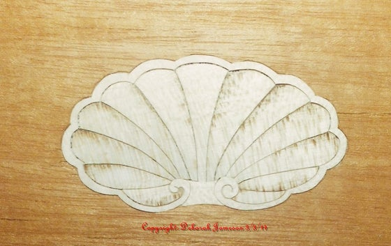 Image of Item No. 220 W. Oyster Shell Design.