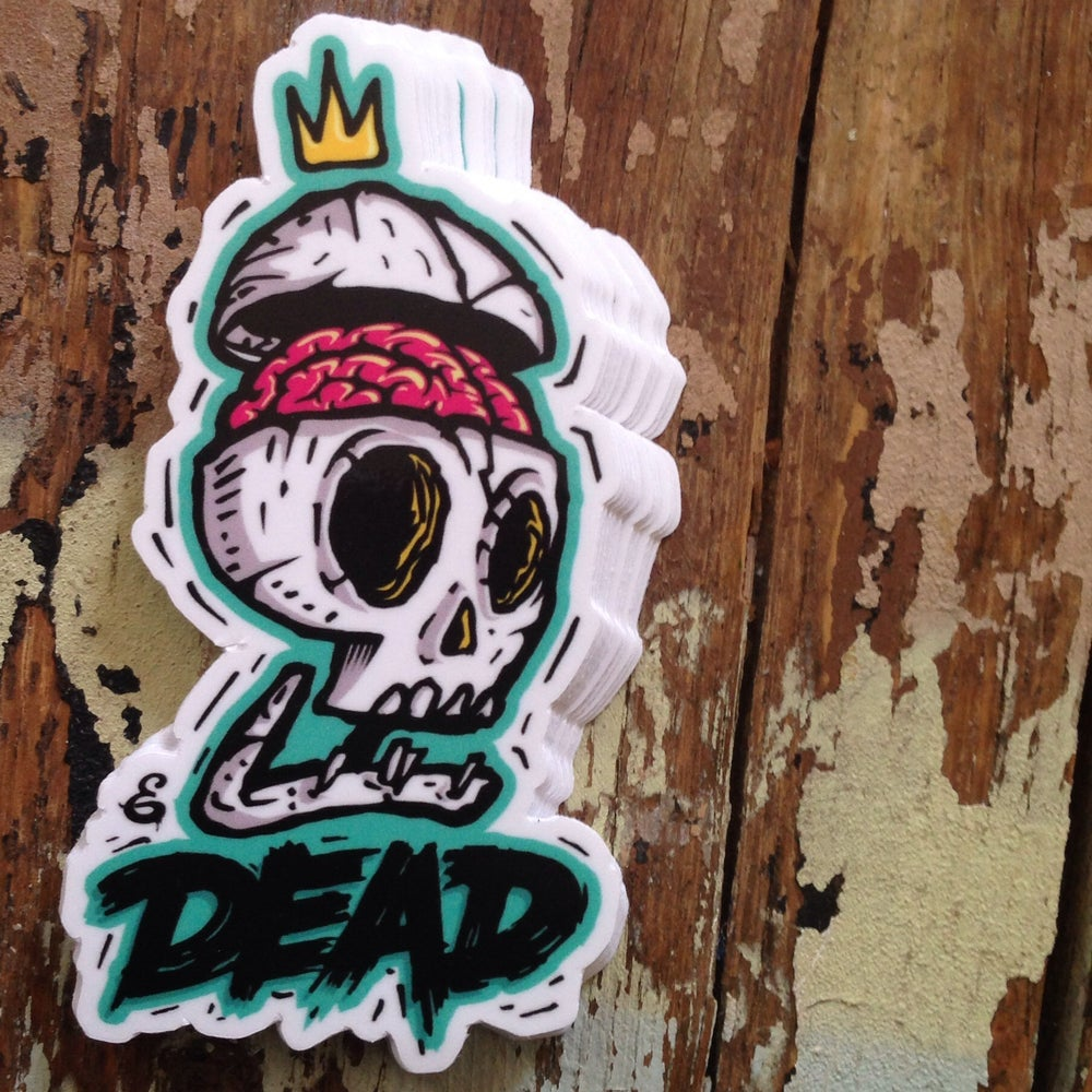 Image of DEAD BRAIN SKULL STICKER
