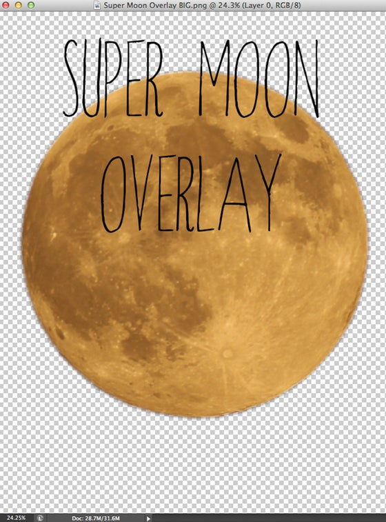 Image of Super Moon Overlay