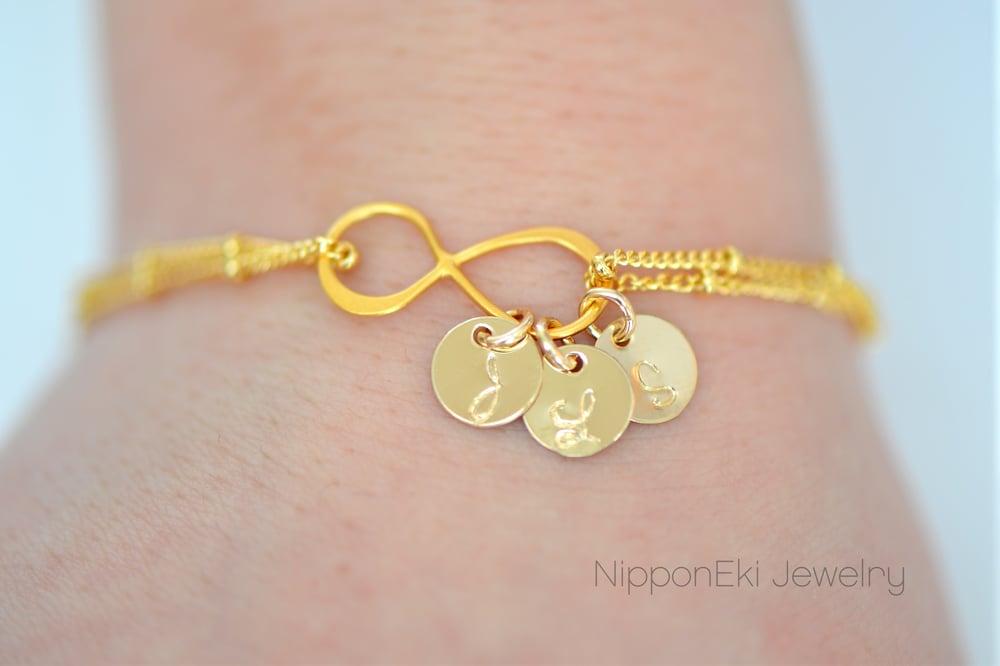 Image of Gold Infinity Bracelet - Gold Infinity Satellite Chain Bracelet