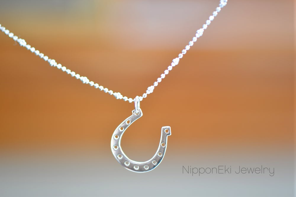 Image of Sterling Silver Horseshoe Necklace