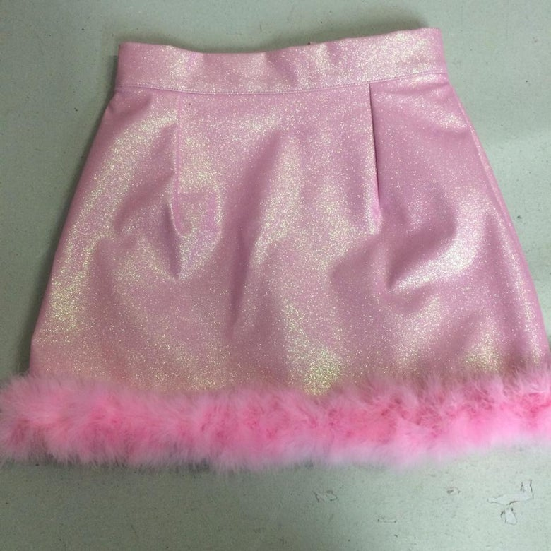 Image of Michelle Baby Pink Glitter Skirt