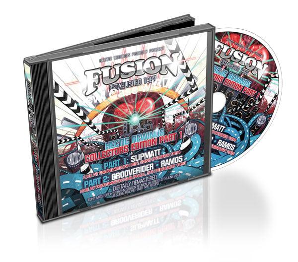 Image of FUSION: HECTIC REWINDS CD PART 1    SLIPMATT • GROOVERIDER • RAMOS