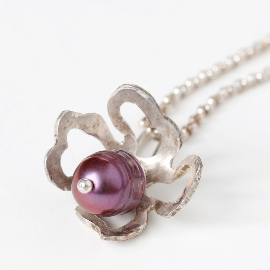 Image of Botanical Pearl Fiori Charm Necklaces