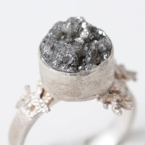 Image of Botanical Druzy Quartz Fern Ring