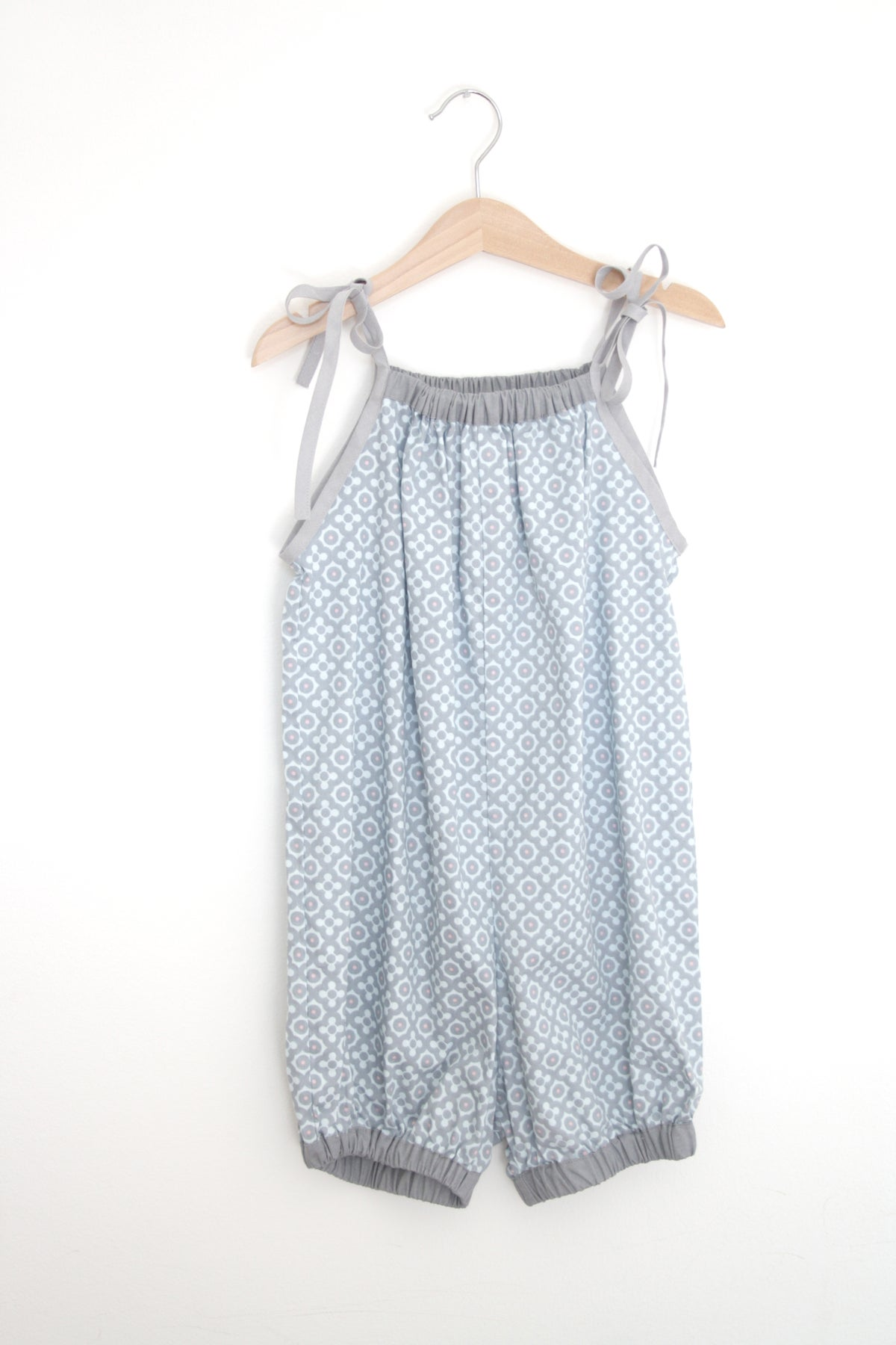 50s Playsuit-blue pattern