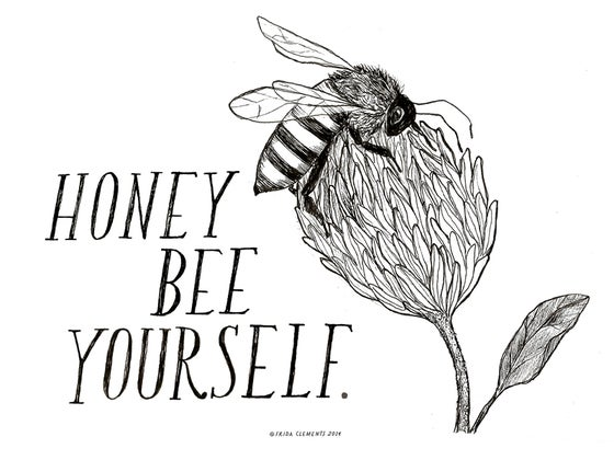 Image of Honey Bee Yourself  / Mini Print