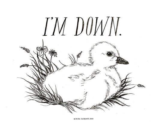 Image of I'm Down / Mini Print
