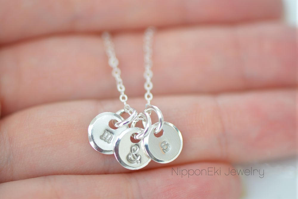 Image of Dainty Sterling Silver Initial Necklace