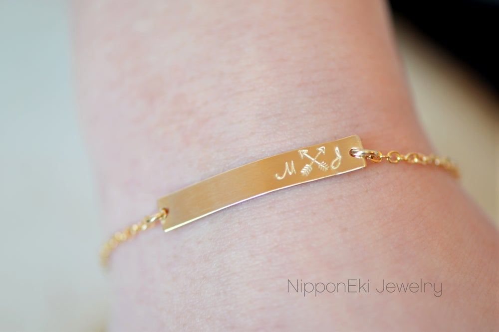 Image of Personalized Bar Bracelet