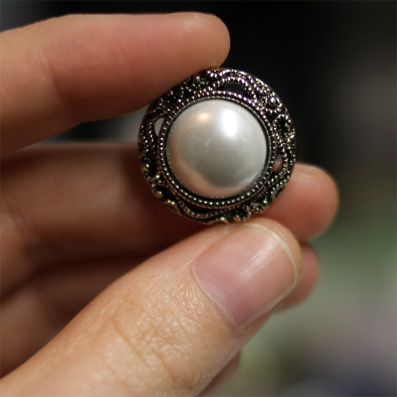Image of Silver Pearl Plugs (sizes 2g-3/4)