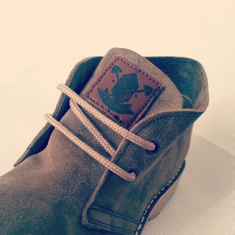 Image of DIGGERS KHAKI SUEDE BOOTS