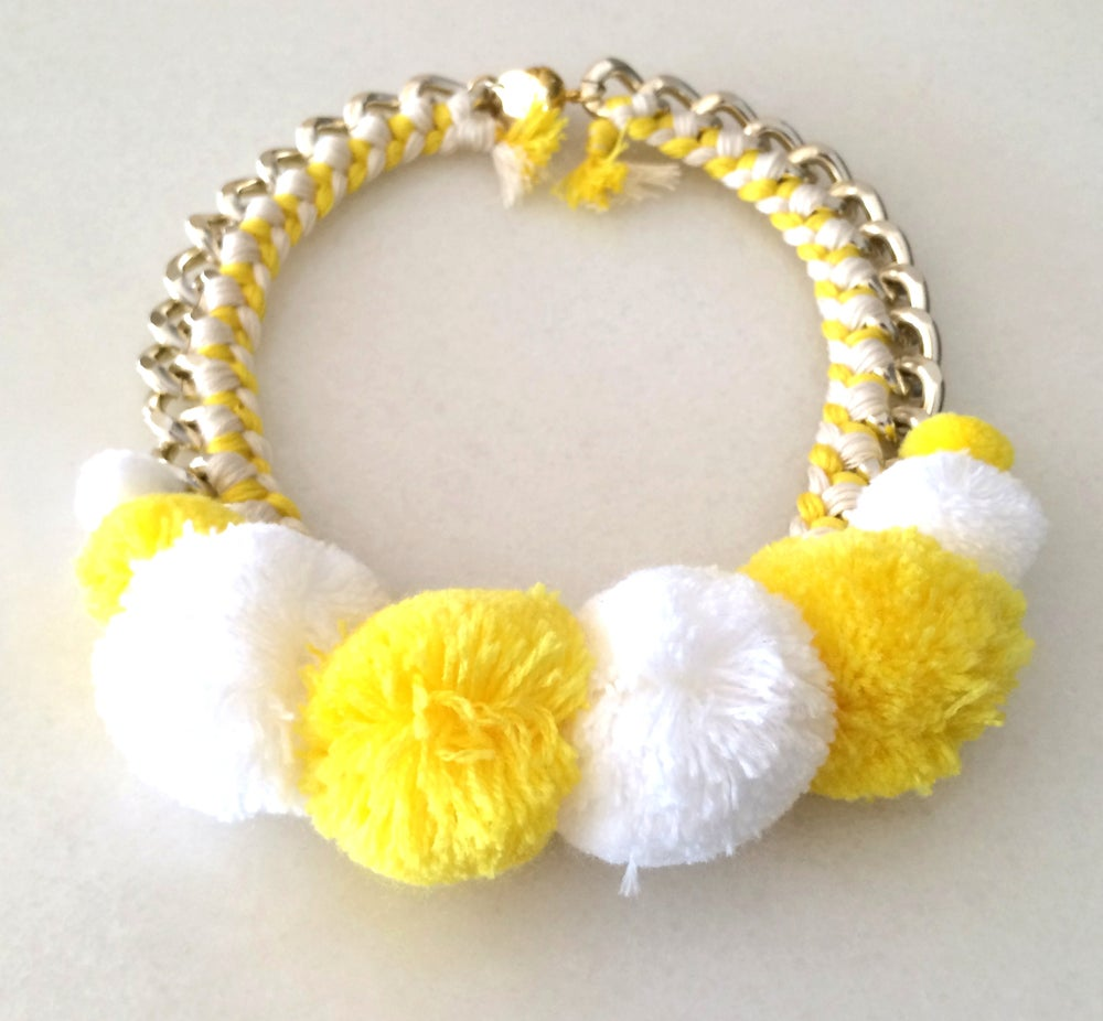 Image of POMPOM (Yellow and White)