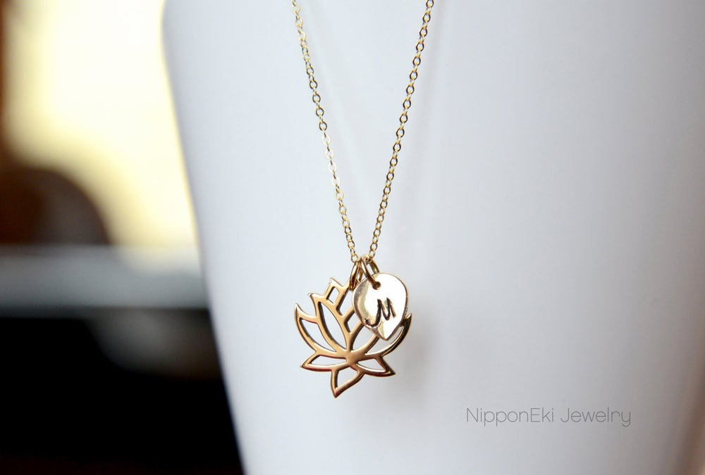 Image of Personalize Lotus Petal Necklace