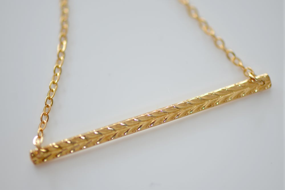 Image of Gold Chevron Bar Necklace