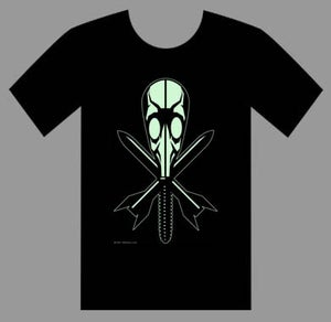 Image of GLOW IN THE DARK GAS MASK MEN'S T-SHIRT
