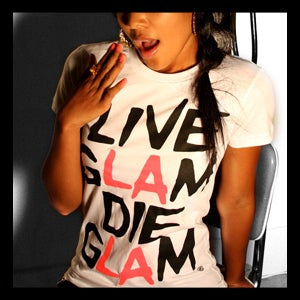 Image of LIVE GLAM DIE GLAM (White)