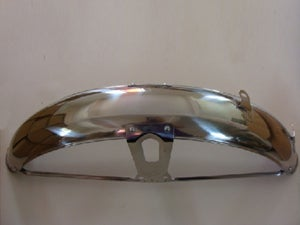 Image of Honda CG125 Front Metal Fender Mud Guard With Number Plate Basket