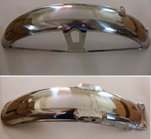 Image of Honda CG125 Rear Front Metal Fender Mud Guard