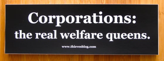"Image of ""Real welfare queens"" bumper sticker"