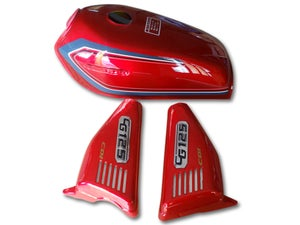 Image of Cafe Racer Honda CG125 Fuel Tank/ Gas Tank Cover Set 1